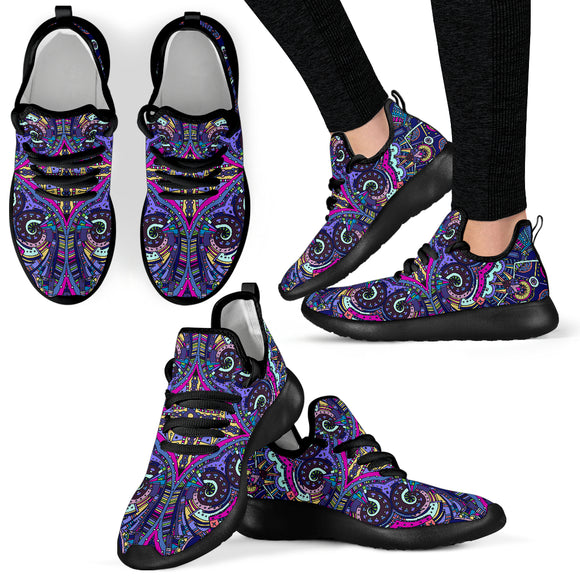 Amazing Purple Night Sky Mesh Knit Sneakers