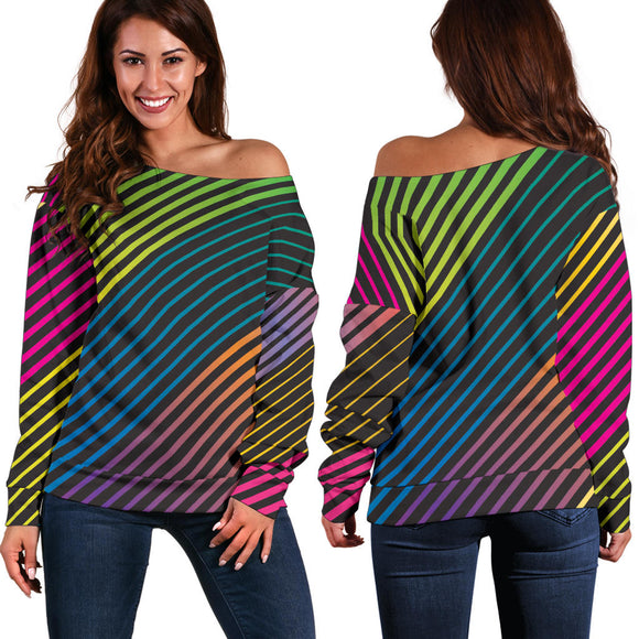 Party Lights On Women's Off Shoulder Sweater