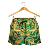 Glamour Green Mandala Women's Shorts