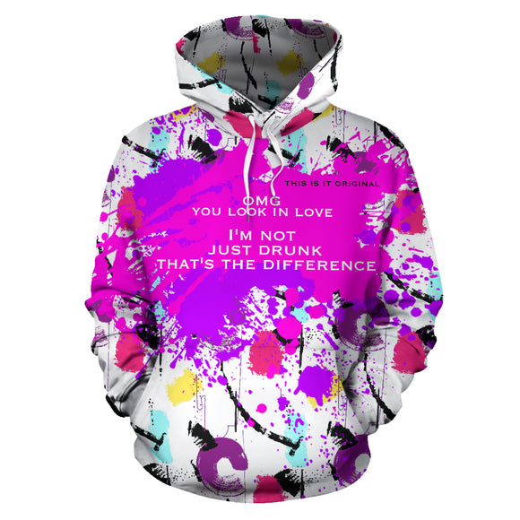 Colorful Abstract Art Hoodie - Boss Girl Sweatshirt - OMG JUST DRUNK