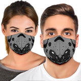 Racing Style Grey & Red Design One Premium Protection Face Mask