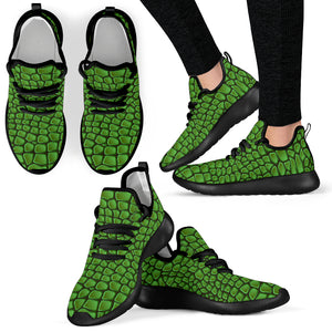 In Love With Crocodile Mesh Knit Sneakers