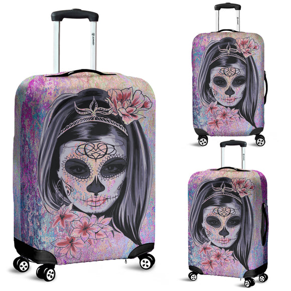 Calavera Skull Girl Luggage Cover
