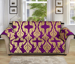 Purple Baroque 70'' Sofa Protector