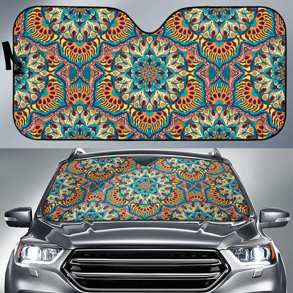 Luxury Summer Mandala Auto Sun Shades