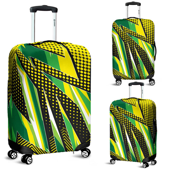 Racing Style Brazil Colors Luggage Cover