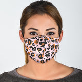 Classic Leopard Skin In Fashion Pink & Orange Colors Protection Face Mask
