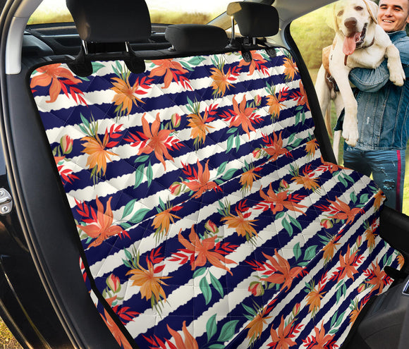 Summer Blue Strips Pet Seat Cover