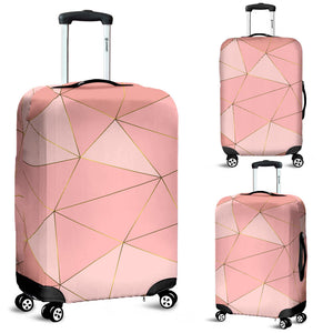 Glittering Marble Love Luggage Cover