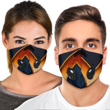 Luxury Golden Mandala Design Four Premium Protection Face Mask