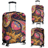 Royal Blue Paisley Luggage Cover