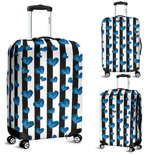 Blue Hearts Luggage Cover