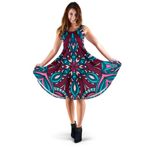 Ethnic Boho Flower Women's Dress