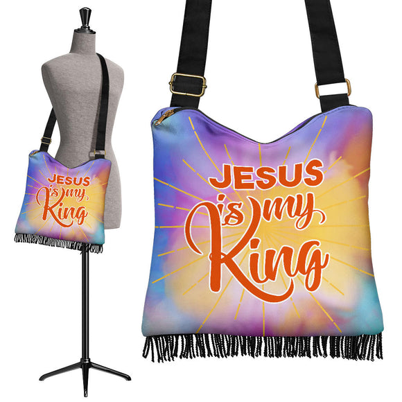Jesus Is My King Crossbody Boho Handbag