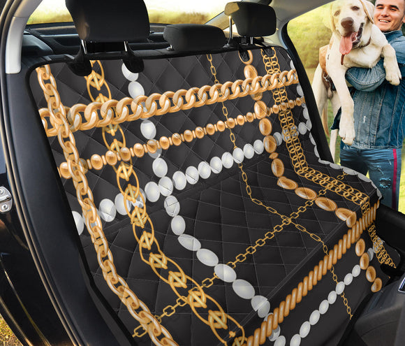 Black And Gold Chain Pet Seat Cover