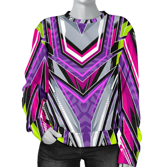 Racing Style Pink & Violet Vibes Women's Sweater