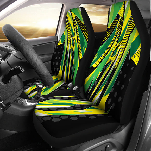 Racing Brazil Style Yellow & Black Vibes Car Seat Covers