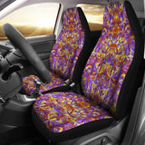 Psychedelic Orange Car Seat Cover