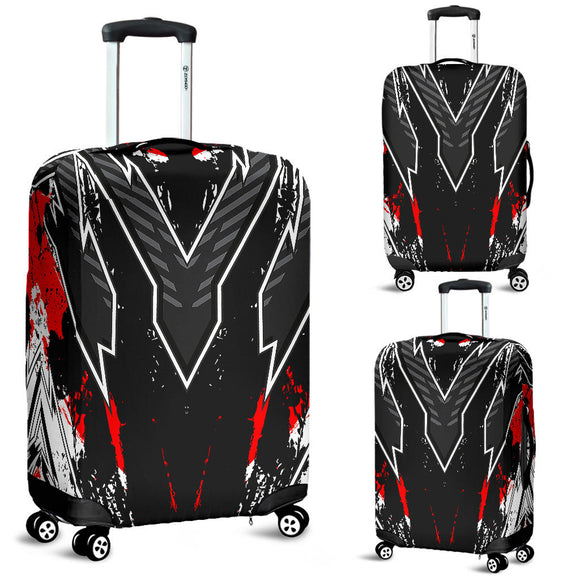 Racing Style Black & Red Vibes Luggage Cover