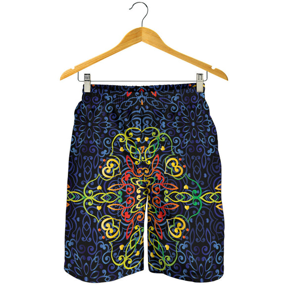 Glowing Rasta Mandala Men's Shorts