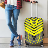 Racing Style Grey & Yellow Stripes Vibes Luggage Cover