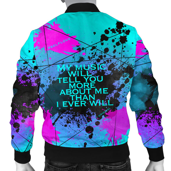 My Music will tell you more. Street Art Design Men's Bomber Jacket