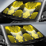 Racing Style Yellow & Black Stripes Vibes Auto Sun Shades