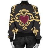 Luxury Royal Hearts Women's Bomber Jacket