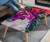 Abstract Psychedelic Color Art Rectangular Coffee Table