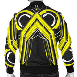 Racing Abstract Style Black & Yellow Vibes Men's Bomber Jacket