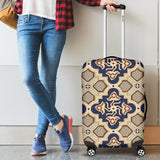 Ornamental Blue Love Luggage Cover