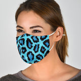 Lovely Blue Leopard Skin Protection Face Mask