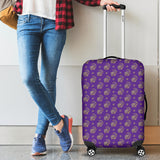 Lucky Purple Elephant Luggage Cover