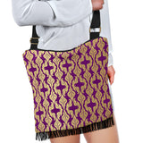 Purple Baroque Crossbody Boho Handbag