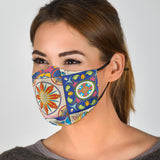 Colorful Ornament Design in Square Protection Face Mask