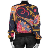 Royal Blue Paisley Women's Bomber Jacket