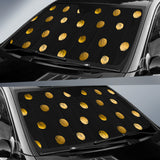 Luxury Golden Dots Auto Sun Shades