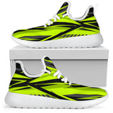 Racing Style Neon Green & Black 2 Colorful Vibe Mesh Knit Sneakers