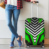 Racing Style Black & Neon Green Vibes Luggage Cover
