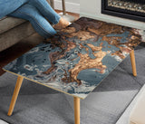 Abstract Gold Marble Rectangular Coffee Table