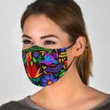 Traditional Colorful Ornamental Design Three Protection Face Mask