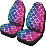 Rainbow Fish Scale Car Seat Cover