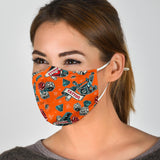 Tattoo Studio Design in Orange Protection Face Mask