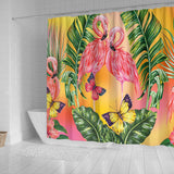 Flamingo Lovers Shower Curtain
