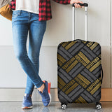 Glittering Gold Love Luggage Cover