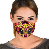 Red & Yellow Mandala Premium Protection Face Mask