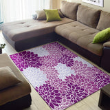 Chrysanthemum Purple Love Area Rug
