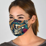 Skull Tattoo Design Style Protection Face Mask