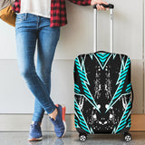 Racing Style Ice Blue & Black Vibes Luggage Cover