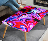 Abstract Color Splash Rectangular Coffee Table